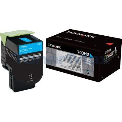 LEXMARK CS410 TONER CARTRIDGE CYAN 3K